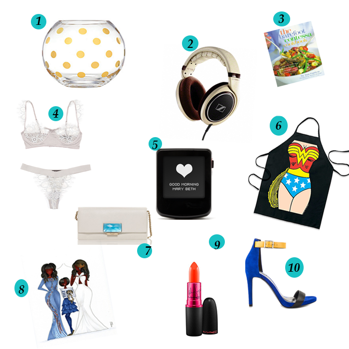 10 gifts another 10 to take to a bridal shower