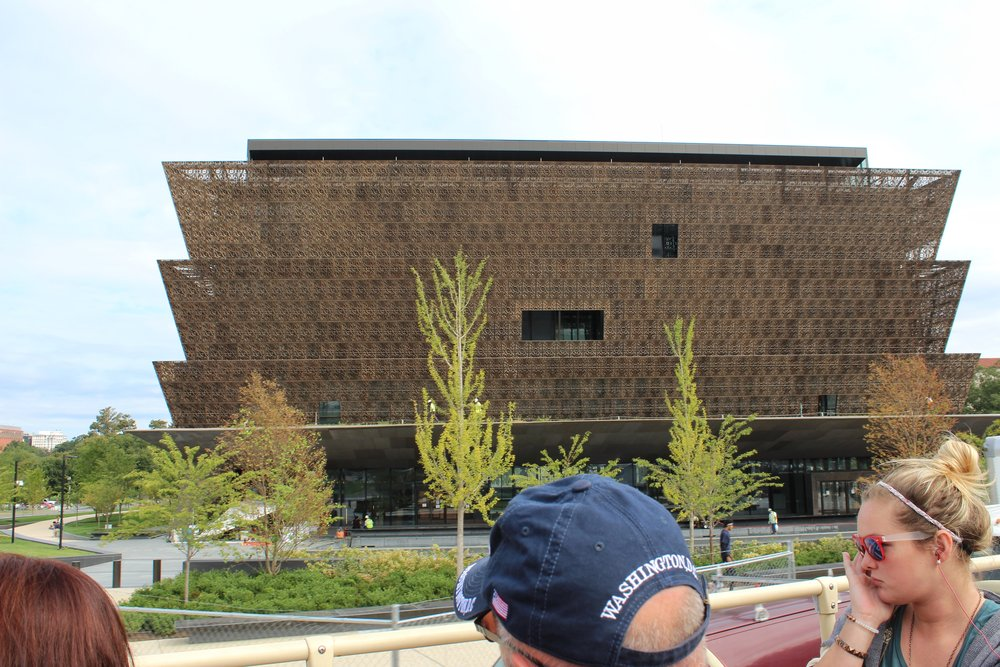 The new National Museum of African-American History and Culture designed by Ghanian architect, David Adjaye
