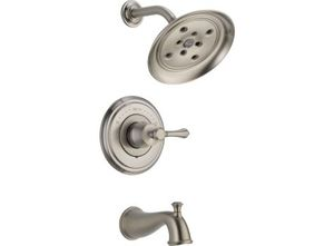 Delta Cassidy Stainless Steel Tub/Shower Faucet