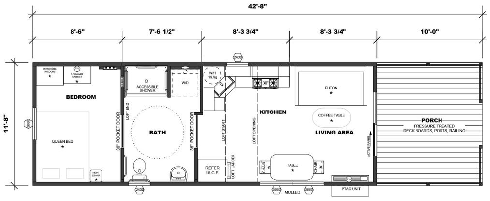 Loft/Porch Opt w/More Accessible Bath (non-ADA)