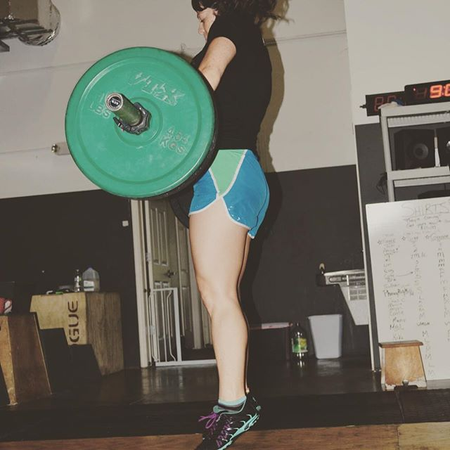 Hang squat cleans and push-ups today! @crossfitsrq #crossfit #sarasota #lift #defygravity #clean