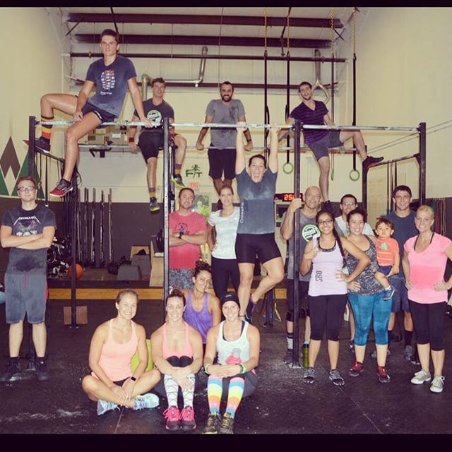 Happy birthday to the beautiful @carlie_esmus ! Hope you feel surrounded by sweaty love!! #crossfit #family @crossfitsrq #fitfam #thosewhosweattogether #birthdaywod #sarasota