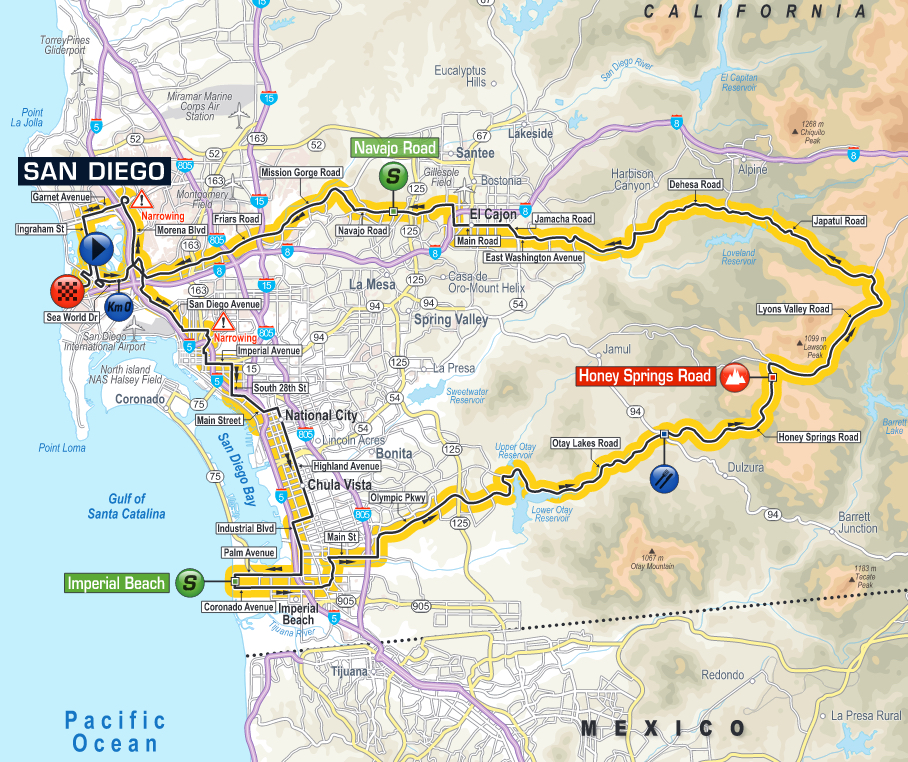 Stage 1 Map- San Diego