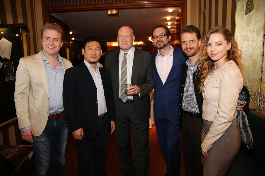 From left to right: Albert C. Eibel (founder of dvb-Verlag), Yong, Ethan (featured in 'Hard To Believe'), Florian (the event host), Valentin, Daria. (Image: Florian Godovits)