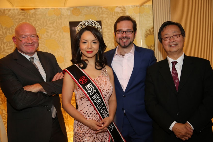 Ethan, Ms. Anastasia Lin (Miss World Canada, 2015), Florian, Man-Yan Ng (CEO of MYC Consulting). (Image: Florian Godovits)