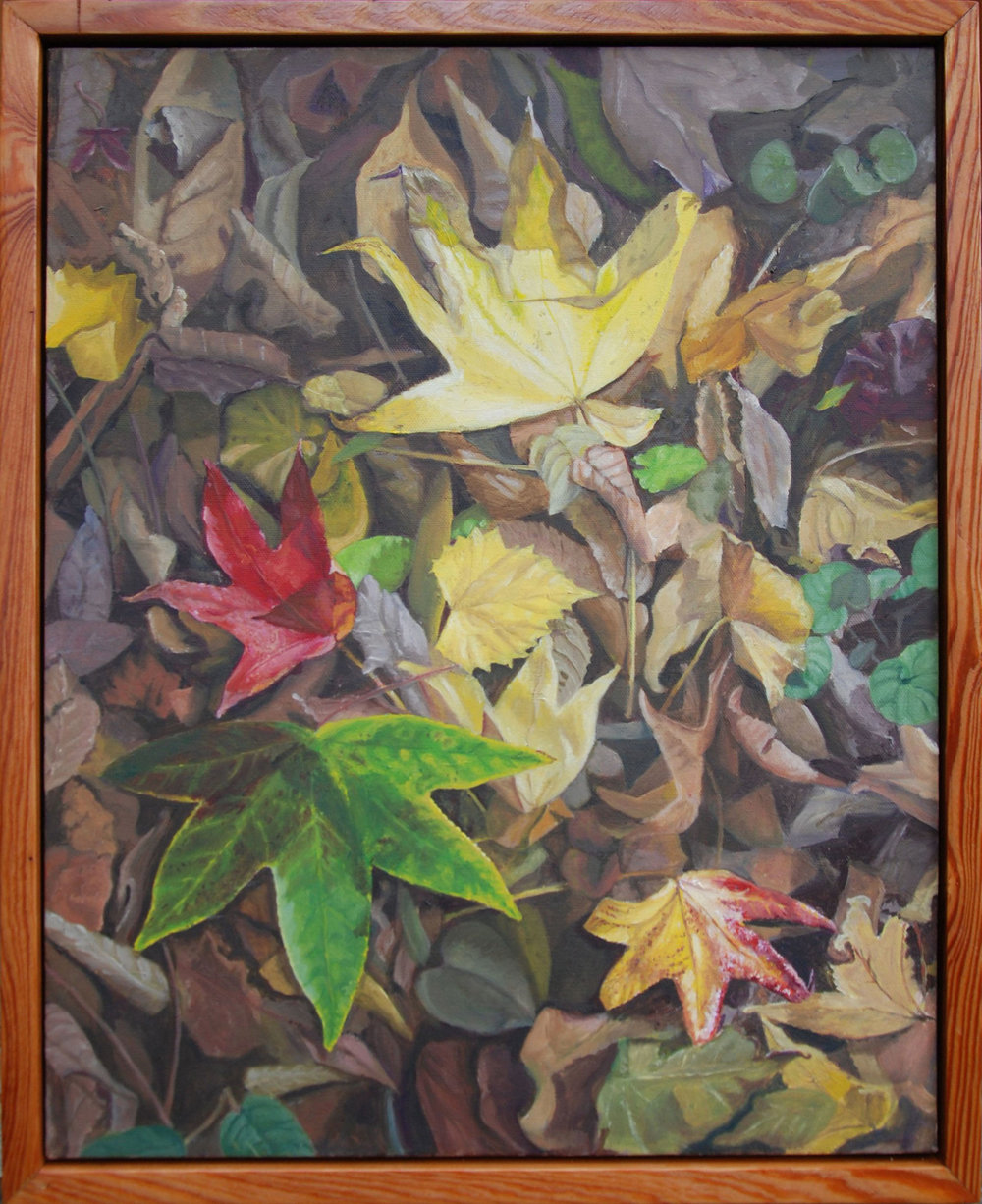 "An Autumn Walk Through San Felasco Hammock #3 of 6  oil on canvas, 22 x 28""; 2010; artist's collection"