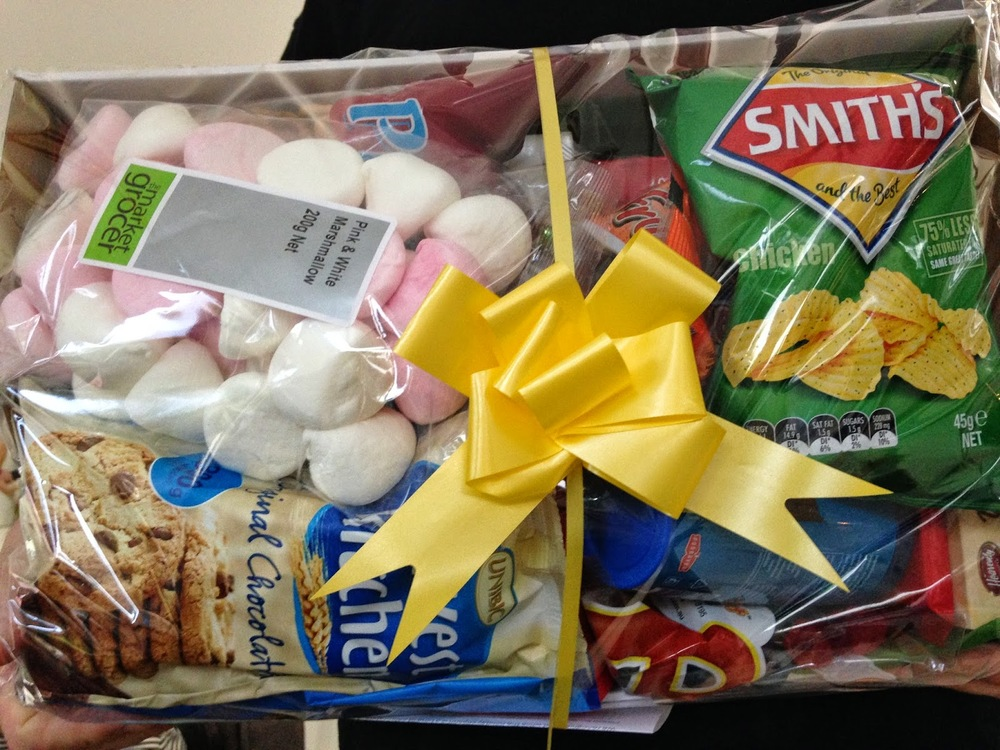 Our beautiful holiday hamper. It is absolutely packed full of goodies!