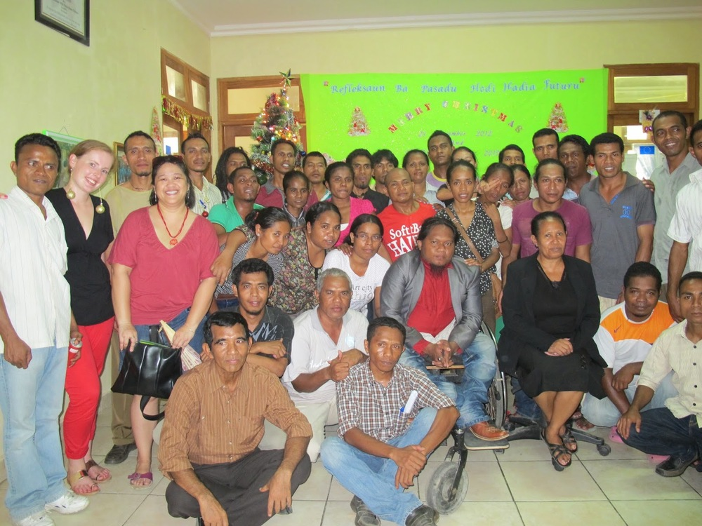 Christmas work party in East Timor.