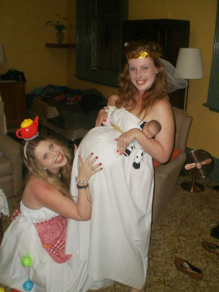Going to dress ups as a pregnant lady was the norm for me. Odd, I know!