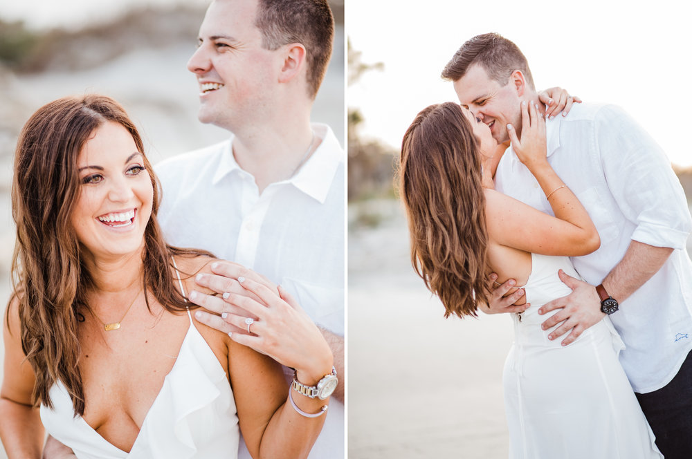 charleston beach engagement pictures