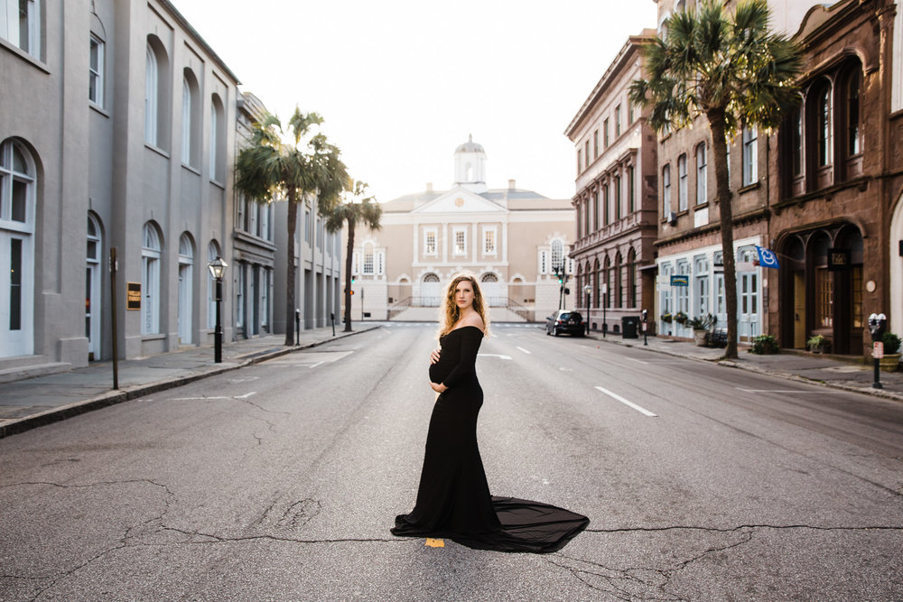 downtown charleston maternity pictures