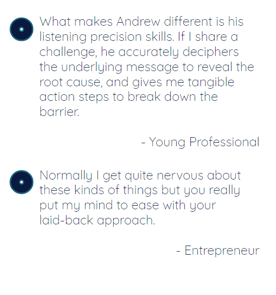Testimonials: Entrepreneur and Young Professional