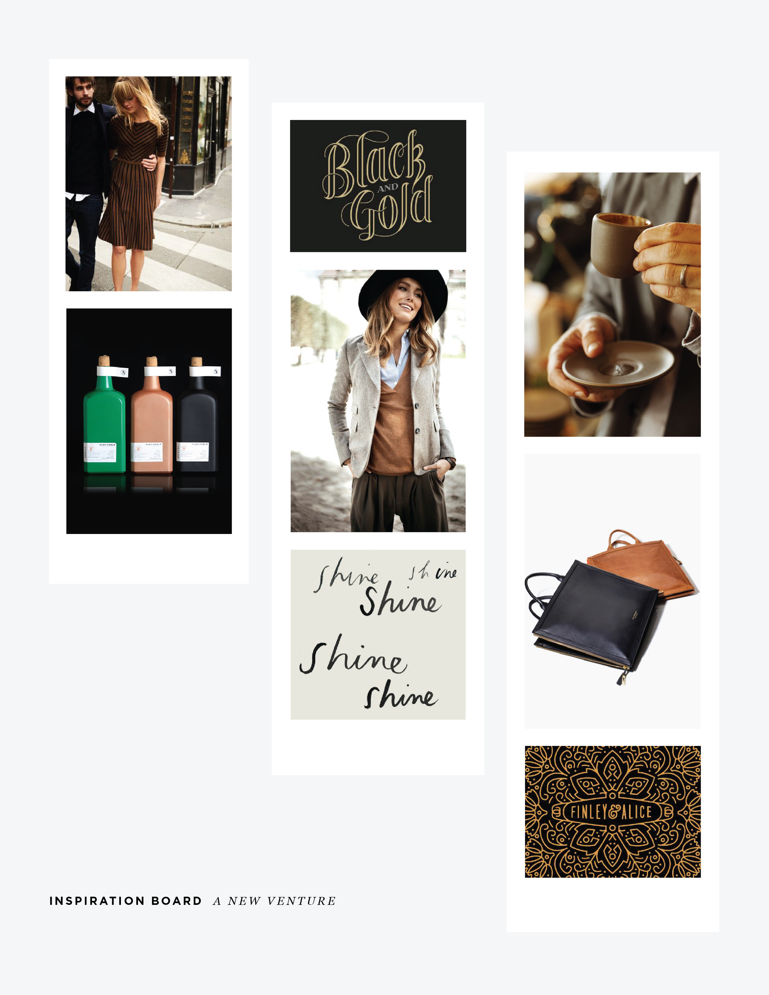inspiration board moodboard a new venture