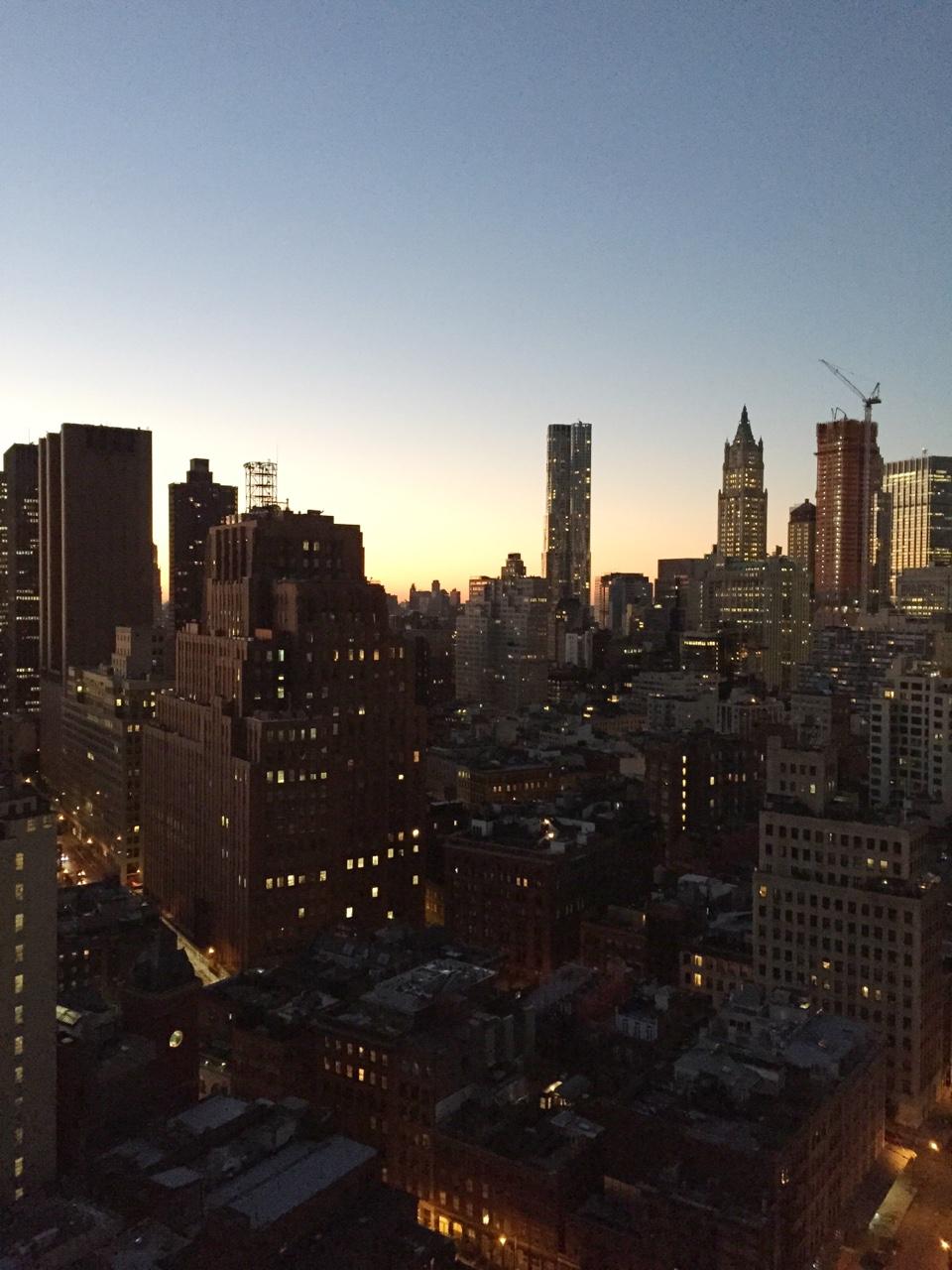 Tribeca sunrise