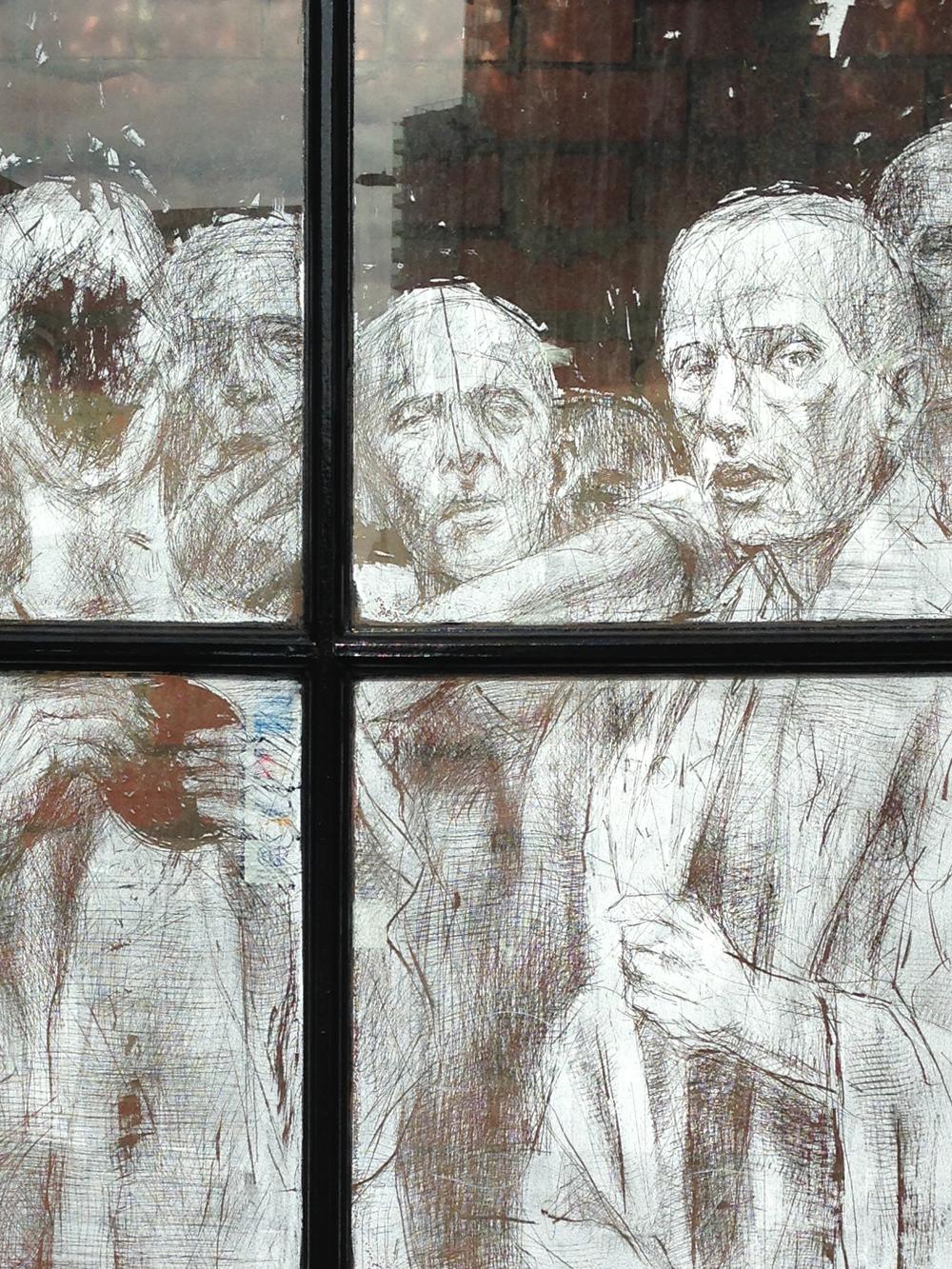 Shoreditch window scratchings
