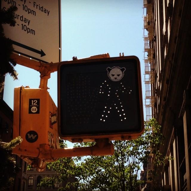 Walk angry panda #soho #nyc