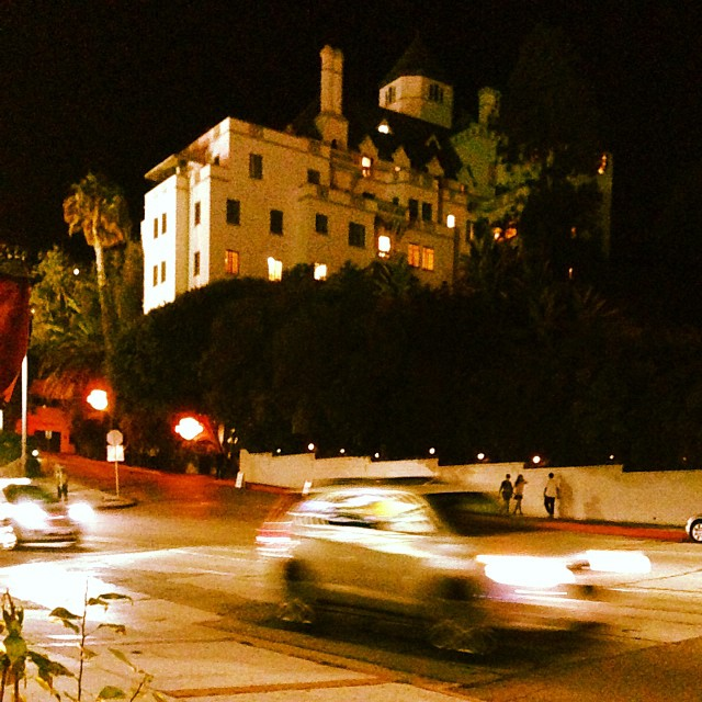 Dinner at Pinches with a view of Chateau Marmont #LA