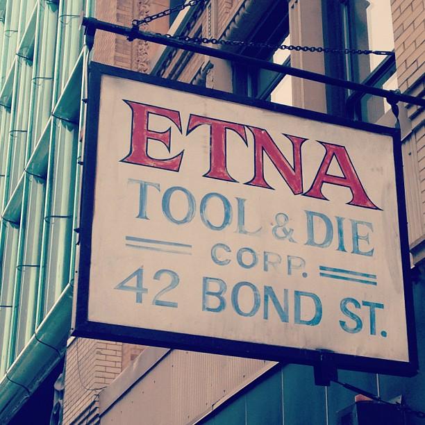 Etna on #bond #noho #nyc