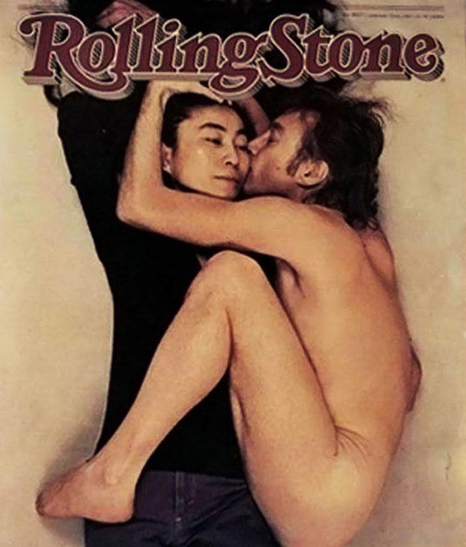 "calamist :     John Lennon and Yoko Ono, photographed by  Annie Leibovitz     "" What is interesting is she said she'd take her top off and I said, 'Leave everything on' — not really preconceiving the picture at all.   Then he curled up next to her and it was very, very strong. You couldn't help but feel that he was cold and he looked like he was clinging on to her. John said, 'You've captured our relationship exactly. Promise me it'll be on the cover.' I looked him in the eye and we shook on it."""
