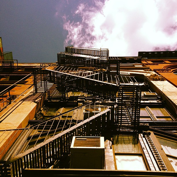 TriBeCa ladders (Taken with  Instagram )