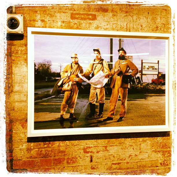Love these anachronistic civil war prints by Gregg Segal. Where can I buy one? #chelseamarket (Taken with  Instagram )