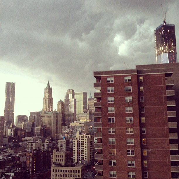 Storm rolling into #nyc  (Taken with  Instagram )