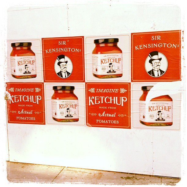 Pretty sure scooping ketchup brands called Sir Kensington's is a Brooklyn thing.  (Taken with  Instagram )