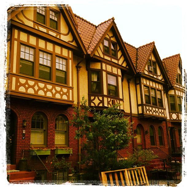 Mock Tudor row houses in PLG (Taken with  instagram )