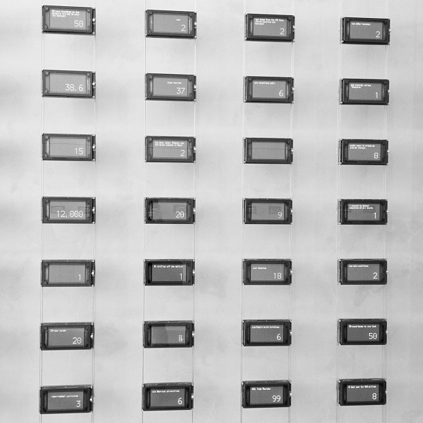 Moveable type in the NYT building.  (Taken with  instagram )