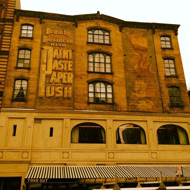 Old TriBeCa building paint advertisement.  (Taken with  instagram )