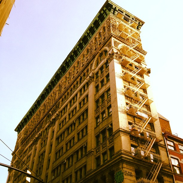 Late 1800s loft building on Broome Street