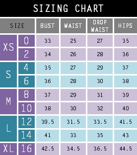 These refer to your measurements (inch), not the garment. Our sizing chart is meant to be a guideline, each garment is cleverly designed to ensure a comfortable fit.