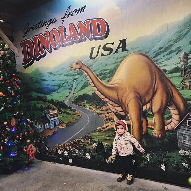 Last Disney day of 2017 was a cool one! ❄️🌬🦕🦖