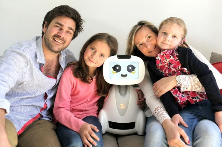 Buddy, designed in France and built in the U.S., is billed as a programmable 'home companion' for kids, families and the elderly. (  Blue Frog Robotics)