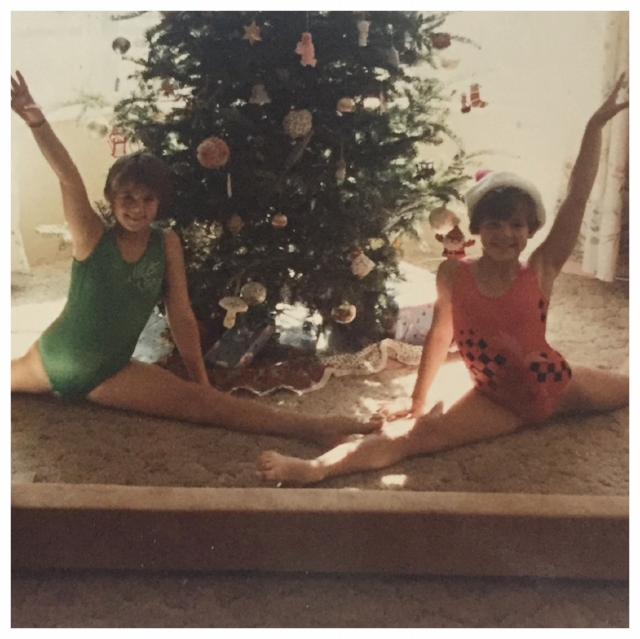 Three decades later, two best friends attempt to recreate this Christmas photo with 25 days of Christmas Splits. It's going to take a Christmas miracle.