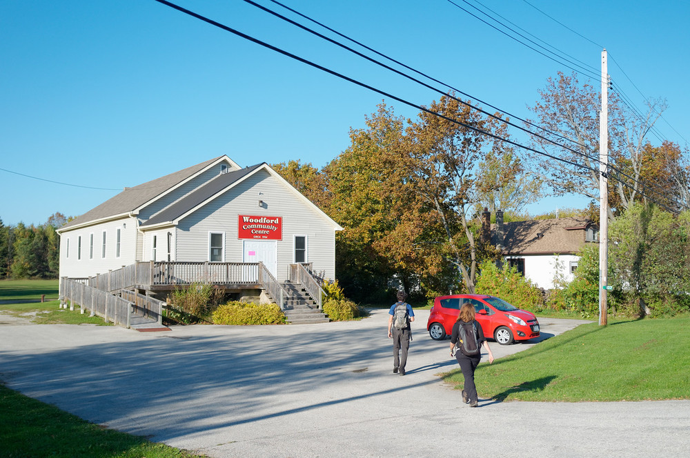 Arriving at our destination point at the Woodford Community Centre where we parked the little red rocket.