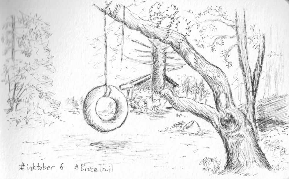 This was by far the most popular sketch during inktober. I loved it because of the texture of the tree but I imagine a lot of people had their own nostalgic thoughts about the sketch.