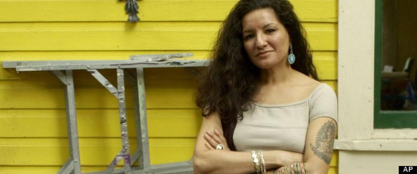 Sandra Cisneros, the author of  The House on Mango Street.