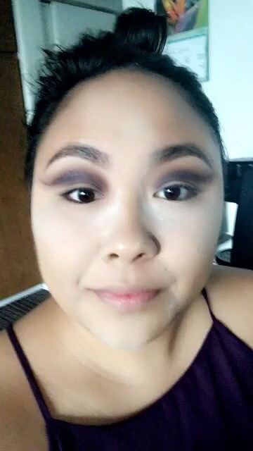 Cutting and blending myself a new crease in this Spring Purple Glitter Glam eye makeup.earn how to get this look on BeautybyJessika.com.