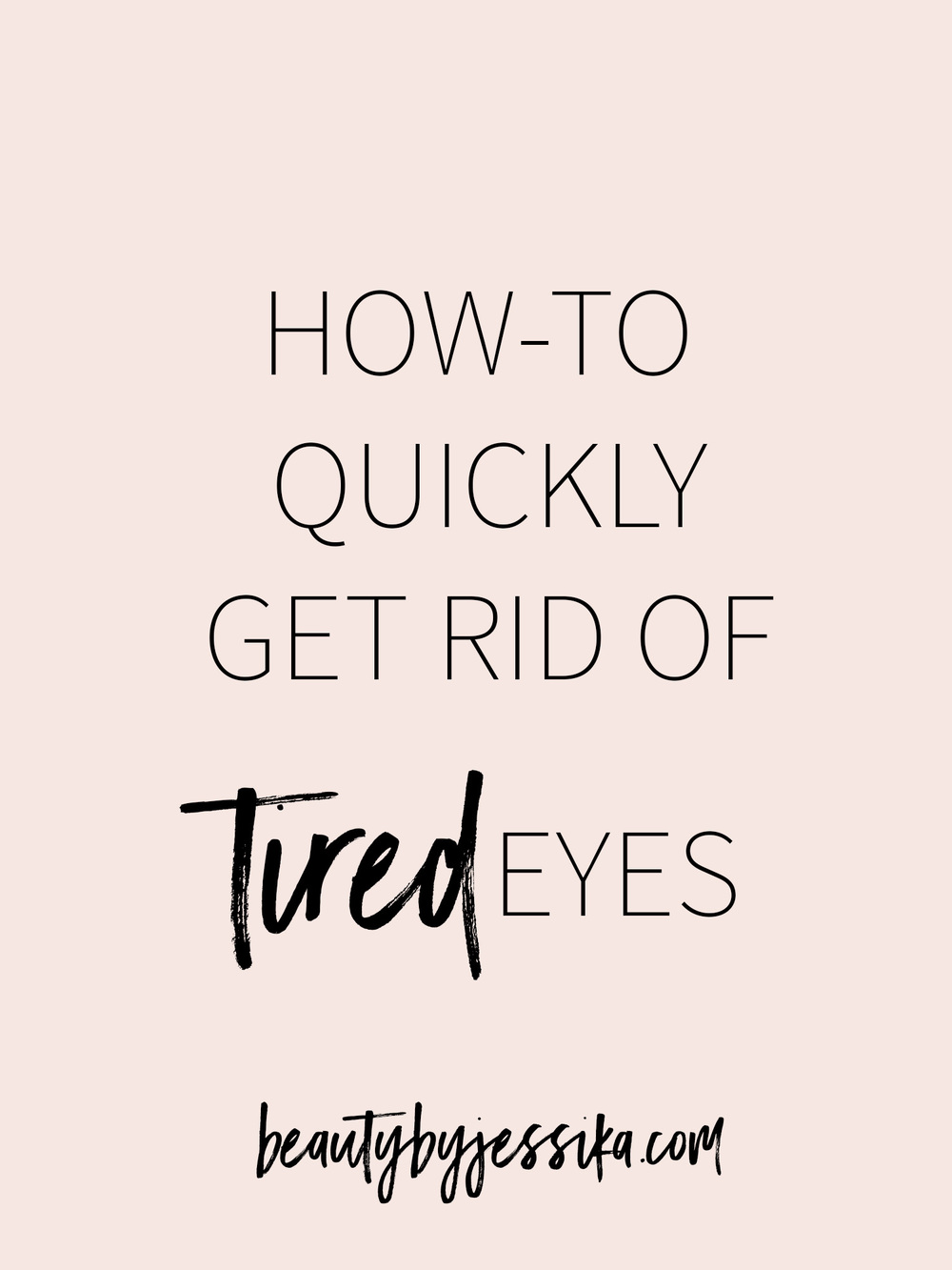 Quickly get rid of tired eyes with my favorite beauty tip (and two extra tips to prevent it)!It literally takes less than 15 minutes.Learn it on beautybyjessika.com.