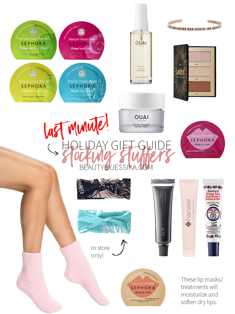 Are you ready for Christmas? If you're still doing some last minute shopping, here are some great stocking stuffer ideas. More on beautybyjessika.com.