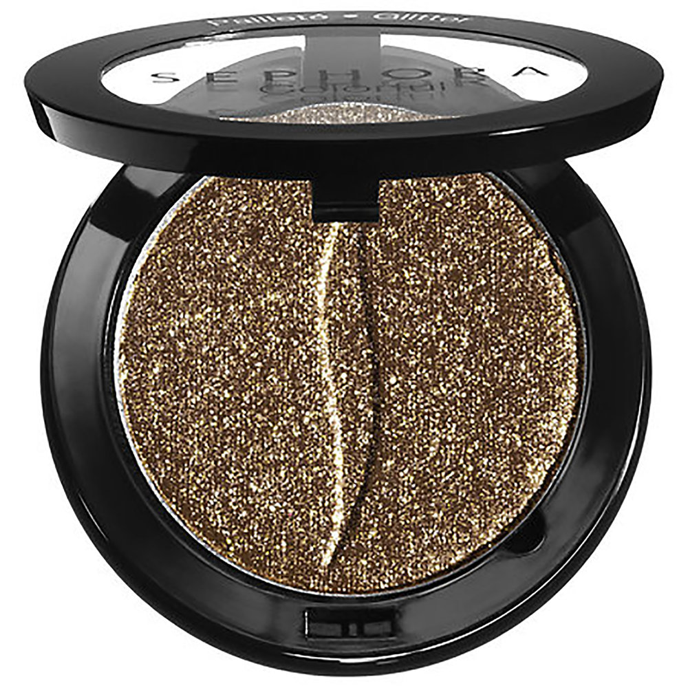 One day while browsing the Sephora Collection shelf I stumbled upon a few glitter eyeshadows. After swatching a few, I ended up buying this one because the color to glitter ratio was everything I ever wanted in a brown eyeshadow. Now it's a staple in my everyday makeup. I like wearing it as a simple smokey eye on top of Bronzite and Goldstone from the Kylie Jenner Bronze Palette. - Spring Beauty Favorites on beautybyjessika.com