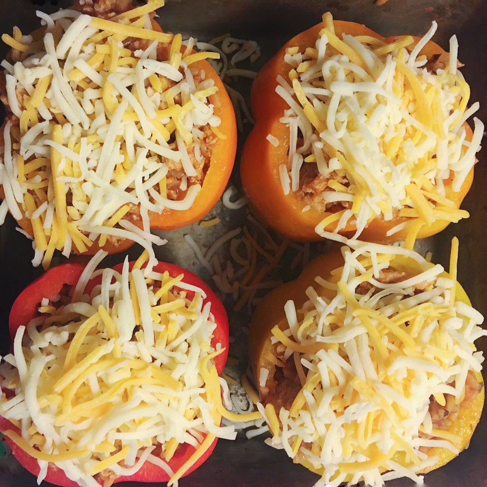 Tried this stuffed bell peppers recipe and it fed me lunch and dinner for a week! More on beautybyjessika.com.