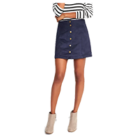 Old Navy Sueded Snap-Front Mini Skirt — $29.99. Shop my faves at beautybyjessika.com.