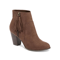 Old Navy Sueded Tassel-Zip Ankle Boot — $38. Shop my faves at beautybyjessika.com.