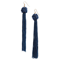 Panacea Knot Tassel Earrings — $14. Shop my faves at beautybyjessika.com.