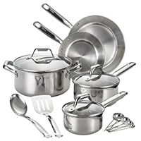T-Fal Stainless Steel Cookware Set 14 pcs — $79.99. Shop my holiday gift picks at beautybyjessika.com.