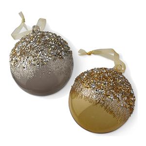 Beaded Ombre Ornaments - Williams Sonoma