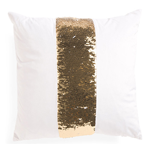 Gold Sequin Stripe Throw Pillow - TJ Maxx