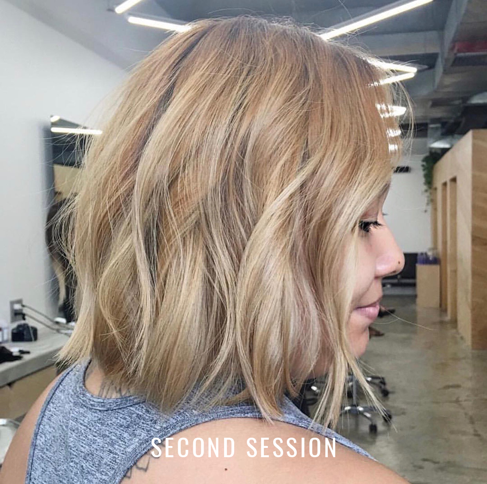 Hair transformation: Second balayage session.